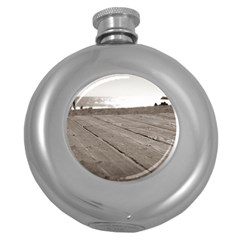 Laguna Beach Walk Hip Flask (round) by hlehnerer