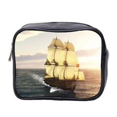French Warship Mini Travel Toiletry Bag (two Sides)