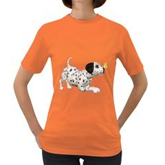 Dalmatian Puppies 2 Womens' T Shirt (colored) by gatterwe