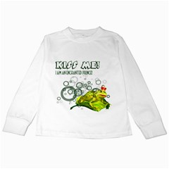 Kiss Me!  Kids Long Sleeve T Shirt by gatterwe