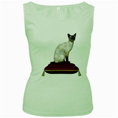 Cat 3 Womens  Tank Top (green) by gatterwe