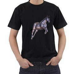 Metal Horse 1 Mens' Two Sided T Shirt (black) by gatterwe