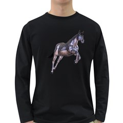Metal Horse 1 Mens' Long Sleeve T Shirt (dark Colored) by gatterwe