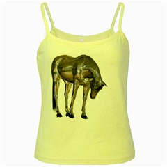Metal Horse 2 Yellow Spaghetti Tank by gatterwe