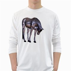 Metal Horse 2 Mens' Long Sleeve T Shirt (white) by gatterwe