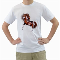 Native Horse Mens  T Shirt (white)