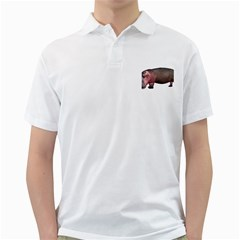 Hippo 1 Mens  Polo Shirt (white)