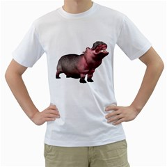 Hippo 2 Mens  T Shirt (white) by gatterwe