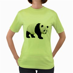 Panda Bear 2 Womens  T-shirt (green) by gatterwe