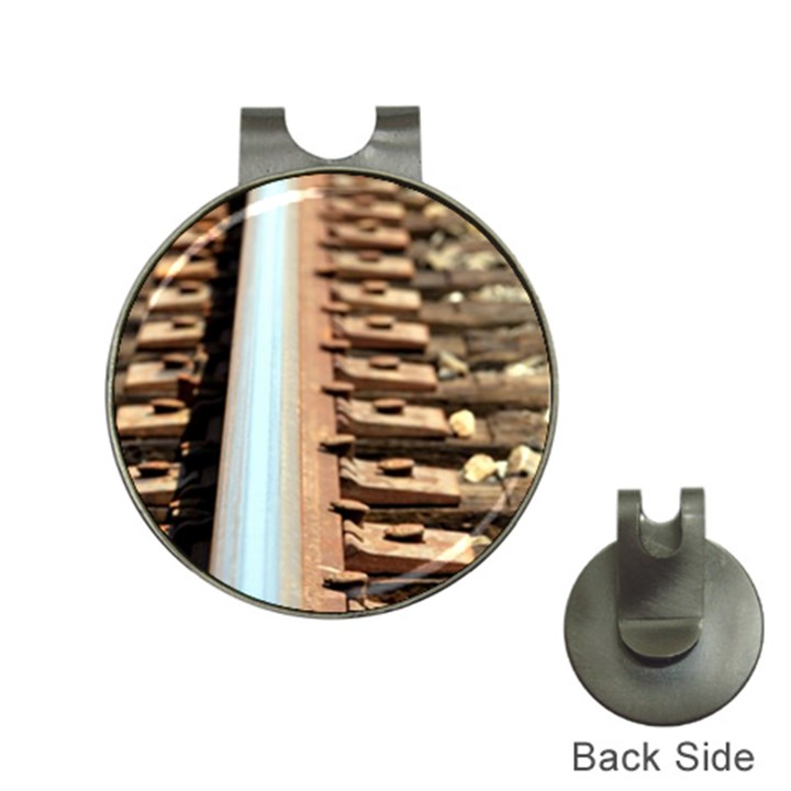 Train Track Hat Clip With Golf Ball Marker Golf Ball Marker Hat Clip