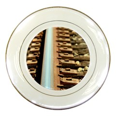 Train Track Porcelain Display Plate by hlehnerer