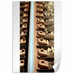 Train Track Canvas 20  X 30  (unframed) by hlehnerer