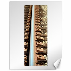 Train Track Canvas 36  X 48  (unframed) by hlehnerer