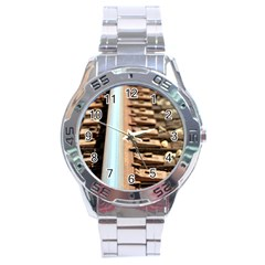Train Track Stainless Steel Watch (men s) by hlehnerer