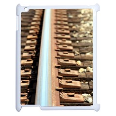Train Track Apple Ipad 2 Case (white) by hlehnerer