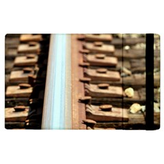 Train Track Apple Ipad 2 Flip Case by hlehnerer