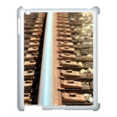 Train Track Apple Ipad 3/4 Case (white) by hlehnerer