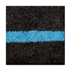 Black Blue Lawn Ceramic Tile by hlehnerer