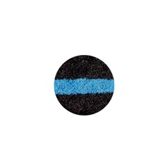 Black Blue Lawn 1  Mini Button Magnet by hlehnerer