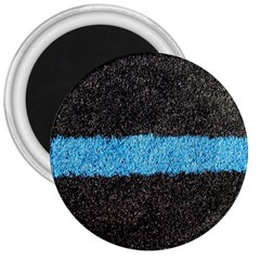 Black Blue Lawn 3  Button Magnet by hlehnerer