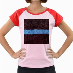 Black Blue Lawn Women s Cap Sleeve T Shirt (colored) by hlehnerer
