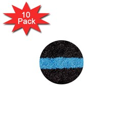Black Blue Lawn 1  Mini Button (10 Pack) by hlehnerer