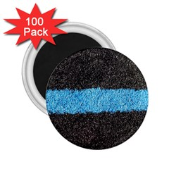 Black Blue Lawn 2 25  Button Magnet (100 Pack) by hlehnerer