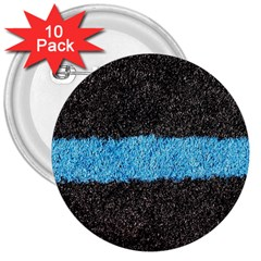 Black Blue Lawn 3  Button (10 Pack) by hlehnerer