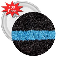 Black Blue Lawn 3  Button (100 Pack) by hlehnerer