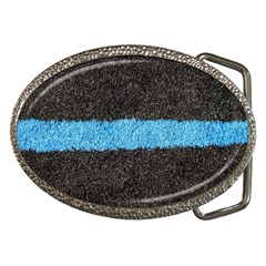 Black Blue Lawn Belt Buckle (oval) by hlehnerer
