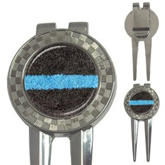 Black Blue Lawn Golf Pitchfork & Ball Marker by hlehnerer