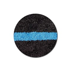 Black Blue Lawn Drink Coasters 4 Pack (round) by hlehnerer