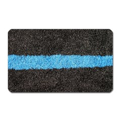 Black Blue Lawn Magnet (rectangular) by hlehnerer