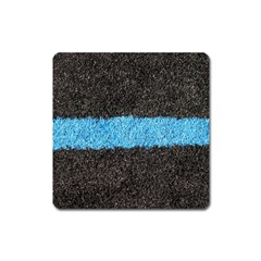 Black Blue Lawn Magnet (square) by hlehnerer