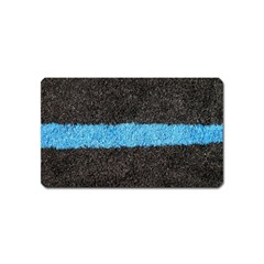 Black Blue Lawn Magnet (name Card) by hlehnerer