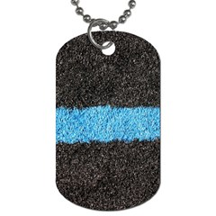 Black Blue Lawn Dog Tag (two Sided)  by hlehnerer
