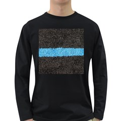 Black Blue Lawn Mens' Long Sleeve T Shirt (dark Colored) by hlehnerer