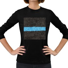 Black Blue Lawn Womens' Long Sleeve T-shirt (dark Colored) by hlehnerer
