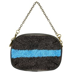 Black Blue Lawn Chain Purse (one Side) by hlehnerer