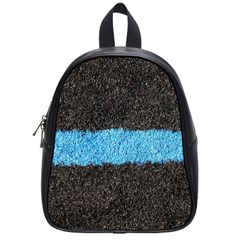 Black Blue Lawn School Bag (small) by hlehnerer