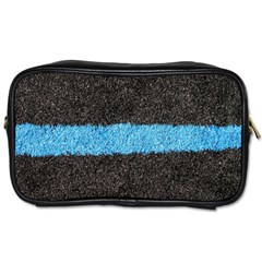 Black Blue Lawn Travel Toiletry Bag (two Sides)