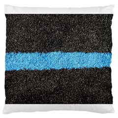 Black Blue Lawn Large Cushion Case (two Sides)
