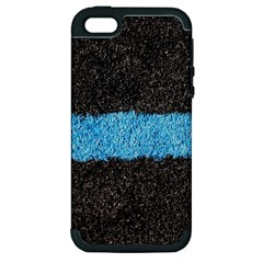 Black Blue Lawn Apple Iphone 5 Hardshell Case (pc+silicone)