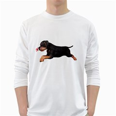 Puppy 1 Mens' Long Sleeve T-shirt (white) by gatterwe