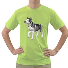 Puppy 4 Mens  T-shirt (green) by gatterwe
