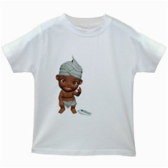 Teeth Brushing Kids' T Shirt (white) by gatterwe