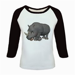 Rhino 2 Women s Long Cap Sleeve T Shirt by gatterwe