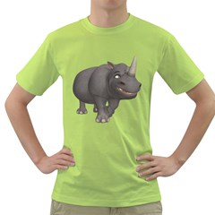 Rhino 3 Mens  T Shirt (green)