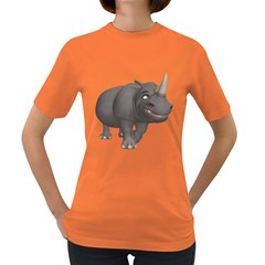 Rhino 3 Womens' T-shirt (colored) by gatterwe