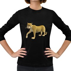 Leopard 2 Womens' Long Sleeve T Shirt (dark Colored)